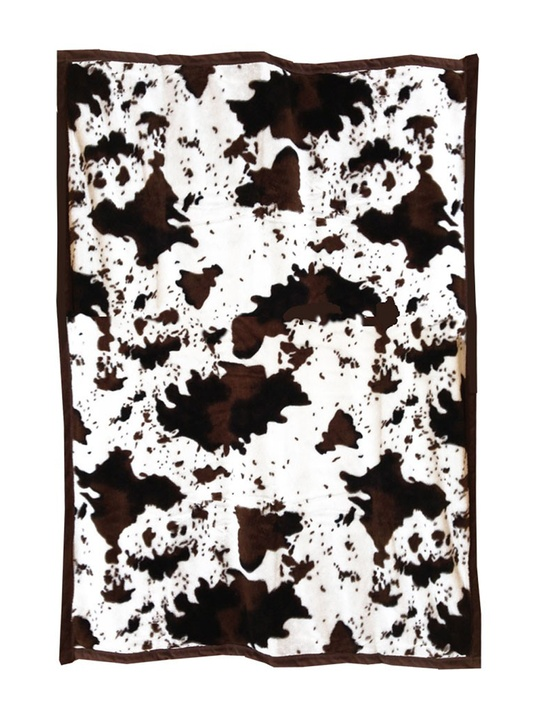 Rodeo Quick Fix Pinto Ranch painted pony horse faux fur throw