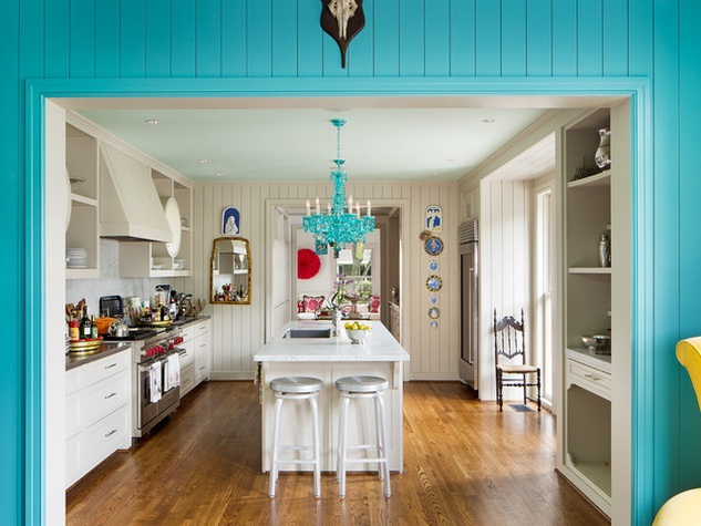 Houzz Houston house home Federalist-Style kitchen