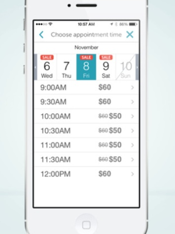 MyTime Dyanamic Pricing Example