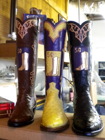 News_Caroline_custom boots_Wheeler Boot Co._three boots
