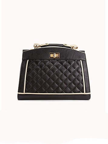 forever 21 Iconic Quilted Faux Leather Satchel