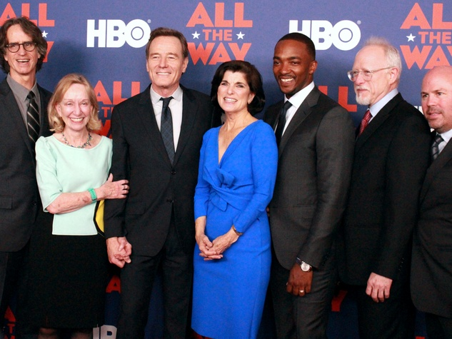 Austin premiere HBO film All the Way LBJ red carpet Jay Roach Doris Kearns Goodwin Bryan Cranston Luci Baines Johnson Anthony Mackie Robert Schenkkan Justin Falvey