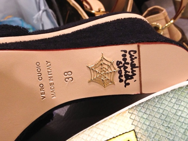 "5 Charlotte Olympia shoe designer April 2013 The infamous ""web"" on the sole of a signed shoe"