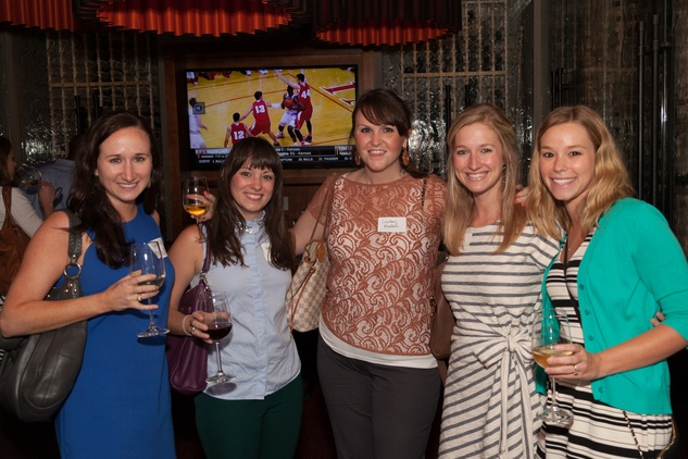 Nealy Stuckey, from left, Heather Henry, Courtney Blackburn, Courtney Ray and Tara Lopez at Casa de Esperanza Young Professionals party July 2014.