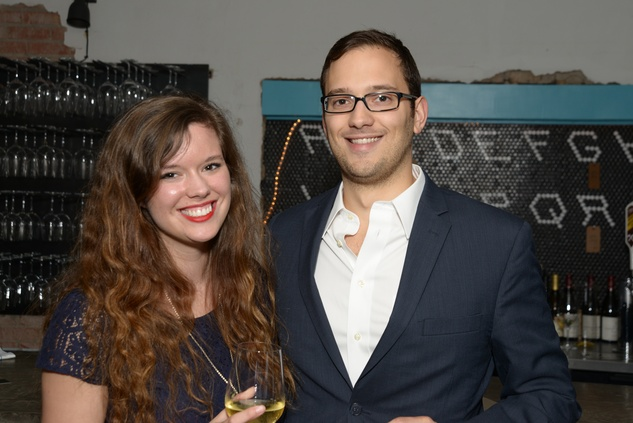 Katie Campbell and Alex Vargas at the Urban Wild of Memorial Park Conservancy's Launch Party March 2015