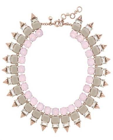 Crystal spike necklace-Jcrew