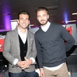 Michael Chabala, left, and Euan Holden at the Audi Central Houston grand opening March 2014