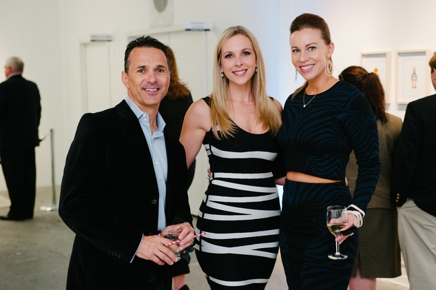 46 Joe and Ashley Rubbo, from left, and Allison Flikerskiat Child Advocates Art Party November 2014