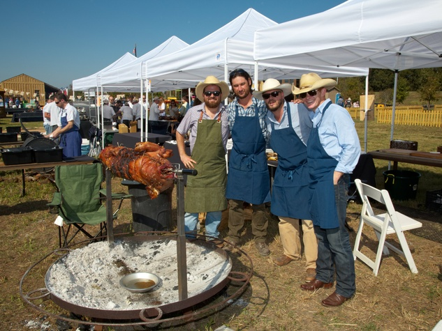 Contigo roasted hog Wine & Swine 2012