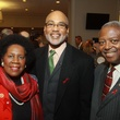71 Sheila Jackson Lee, from left, Phil Wilson and Andrew C. Burks Jr. at the World AIDS Day luncheon.