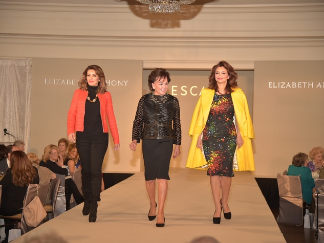 Assistance League luncheon, Parissa Mohajer, Lou Shapiro, Mahzad Mohajer in Escada
