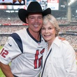 3 Clay Walker and Janice McNair at the Houston Texans Owner's Suite party at NRG Stadium September 2014