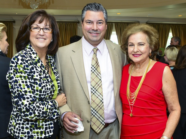 10 Peggy and Erik Carrington, from left, with Joann Crassas at the Baylor Teen Health Clinic luncheon October 2013