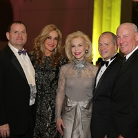 23 Perryn Leech, from left, Jana Arnoldy, Lynn Wyatt, Patrick Summers and John Scott Arnoldy at the HGO Concert of Arias February 2015
