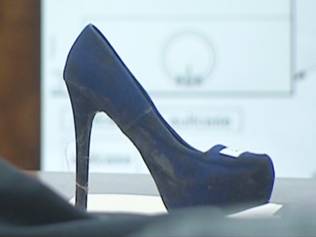 Stiletto heel murder actual shoe April 2014