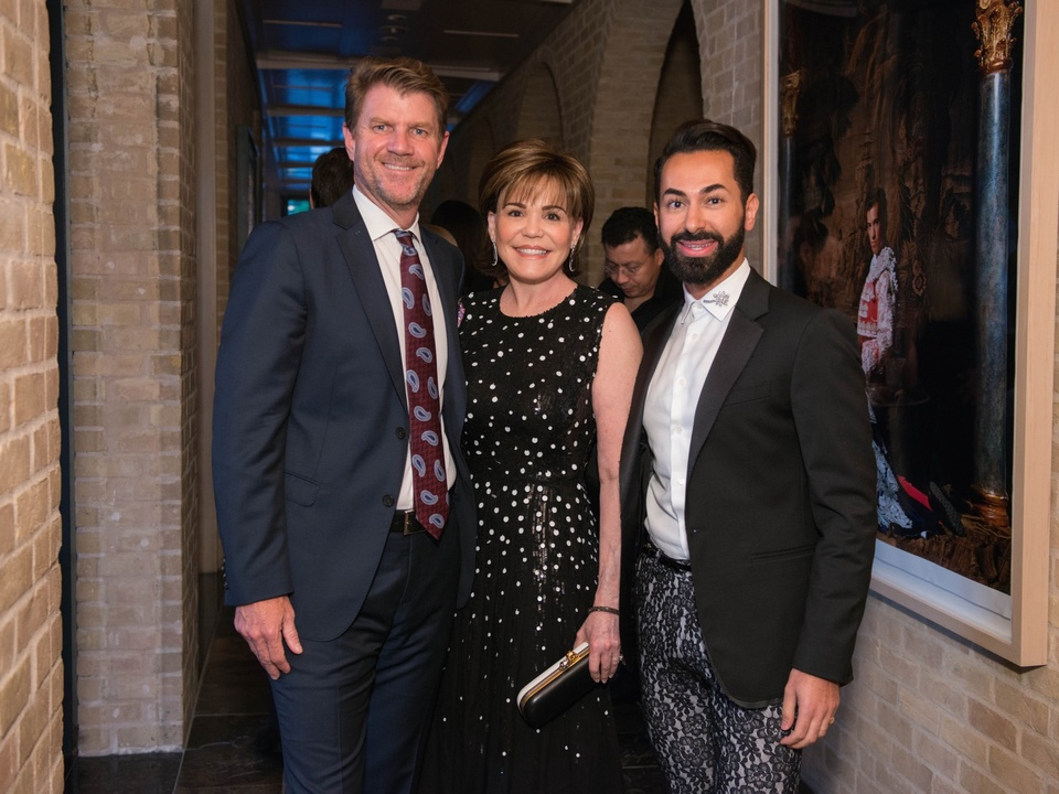 Bill Baldwin, Hallie Vanderhider, Fady Armanious at Recipe for Success dinner