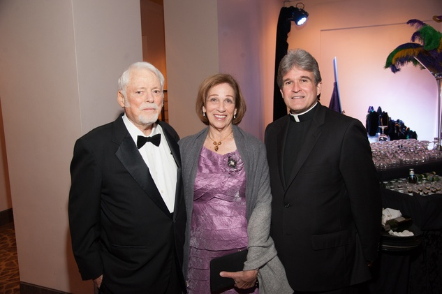 35 Dr. Malcolm and Elizabeth Gillis, left, with Frank Rossi at the Eye Ball February 2015