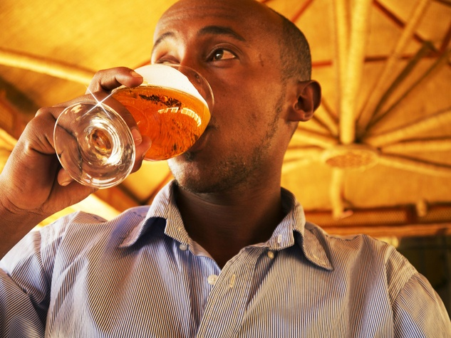 Person drinking stock photo