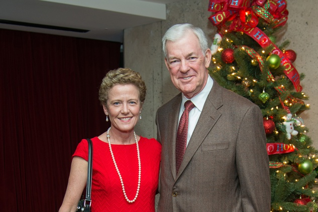 News, Alley Theatre Christmas Tree party, Nov. 2015, Laura Bellows, Jack Pendergast