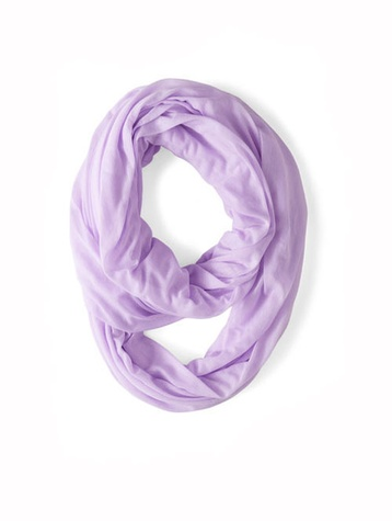 modcloth Start with the Basics Circle Scarf in Lilac