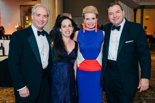 159 David and Viviana Denechaud, from left, and Valerie and Tracy Dieterich at the Houston Symphony Wolfgang Puck wine dinner March 2015
