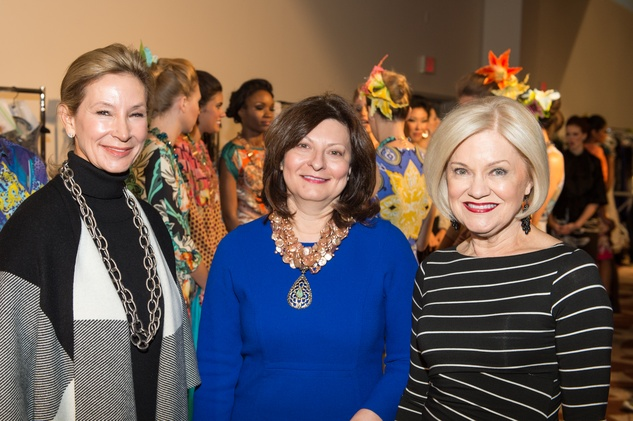 Vicki Kanaly, from left, Cecilia Campbell and Jo Furr at the Nutcracker Market Saks luncheon and fashion show November 2014