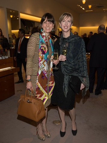Laura Visage and Pam Vetter at Kermit Oliver at Hermès February 2014