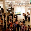 Houston Fine Arts Fair, opening night social, September 2012, crowd, venue