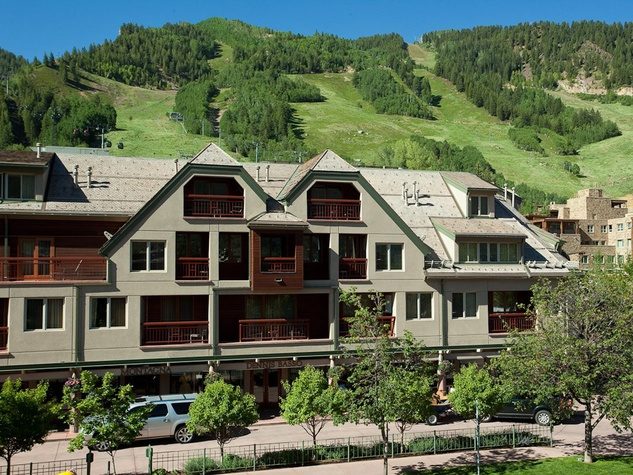 The Little Nell hotel in Aspen in summer