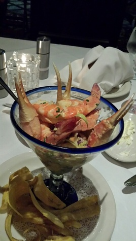 "Crab and shrimp ""martini"" at Vic & Anthony's at the Golden Nugget Lake Charles"