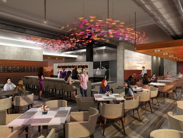 Peska seafood restaurant BLVD Place interior rendering July 2014