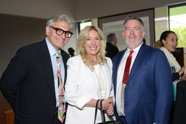 21 Rick Friedman, from left, Cindy Lou Wakefield and Steven Evans at the HFAF Launch at the Asia Society June 2014