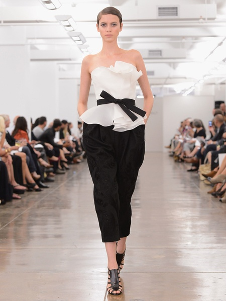 Clifford, Fashion Week spring 2013, Sunday, Sept. 9, 2012, Carmen Marc Valvo Spring, black-and-white ensemble
