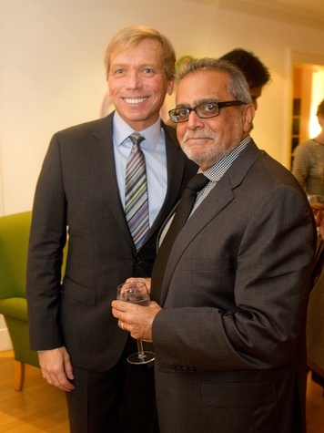Jonathon Glus, left, and Ashraf Ramji at the Aga Khan Foundation presentation January 2014