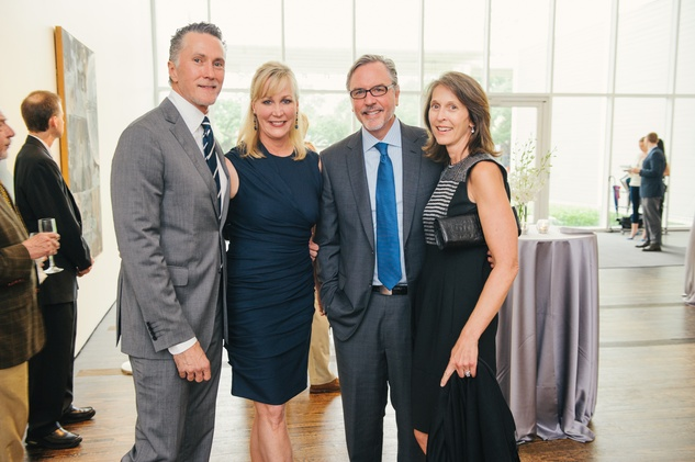 Greg Fourticq, from left, Sarah Dodd and Bill and Susanne Pritchard at the Charles James exhibit preview party at the Menil June 2014