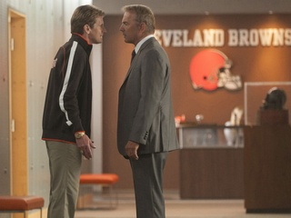 Denis Leary and Kevin Costner in Draft Day
