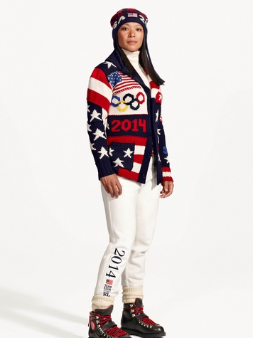 Ralph Lauren Olympic opening ceremonies uniforms January 2014 Julie Chu