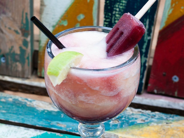 Boozy popsicle drink at The Rustic