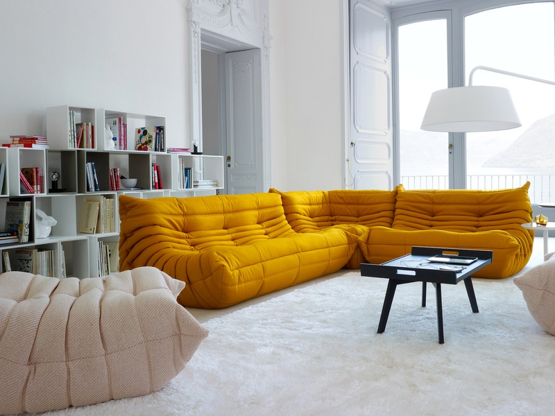 Slideshow: Color your world: Sofas in bold shades are among ...