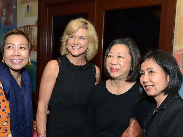 5 Jean Wilson, from left, Ronna Wagner, Rogene Calvert and Grace Huang at the Fox 26 RoundUP Launch February 2014