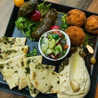 Mezze platter at Oso Food & Wine in Dallas