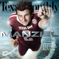 Johnny Manziel on Texas Monthly cover September 2013