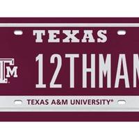 12th Man vanity license plate