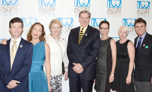 Actors' Equity Fund anniversary event September 2013 Joel Sandel, Carolyn Johnson, Susan Shofner, Nick Wyman, Mary McColl, Karen Mata, David Grant