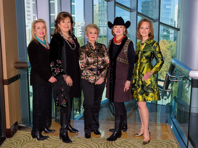 Rodeo Trailblazer Awards, Feb. 2016, Tricia Koch, Marilyn DeMontrond, Jonnie Steffek, Kathleen Williams and Carol Sawyer