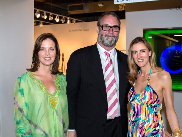 Lisa Wilson, Tearlach Hutcheson, Rachel Kelton, dallas art fair preview gala