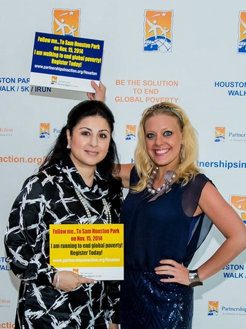 Shenila Humayun-Naseem, left, and Tabitha Smith at the Aga Khan Foundation Emmisary awards reception September 2014