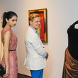 Ayesha Shah and David Peck at the Charles James exhibit preview party at the Menil June 2014