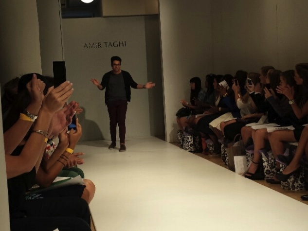 Amir Taghi takes a bow at New York Fashion Week