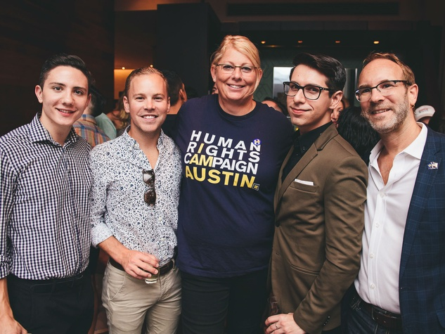 Turn it Up for Change Human Rights Campaign W Austin hotel Austin Pride 2016 Austin Foss Michael Valentino Meghan Stabler Luis R. Valadez Jeremy Pittman